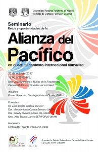Cartel Alianza del Pacífico 23 octubre 2017