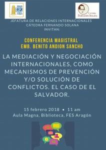 Cartel Conferencia Cátedra Fernando Solana-001