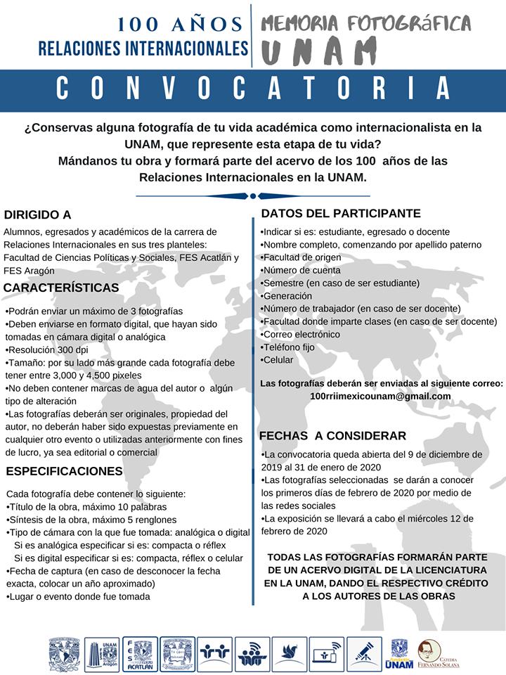 Convocatoria Memoria Fotográfica FES Aragón
